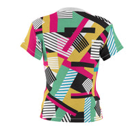 80s bold T-shirt colorful funky pink yellow black white Memphis design