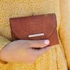 the MARGAUX WALLET toffee croco