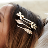 HONEYSUCKLE HAIR CLIP SET gold