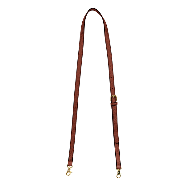 CROSSBODY STRAP <i>chestnut</i>