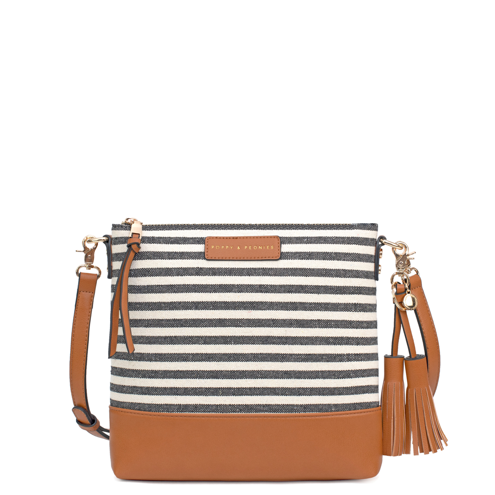 the ARIZONA CROSSBODY black stripe