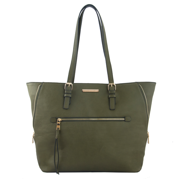<i>the</i> GRAMERCY TOTE <i>army green</i>