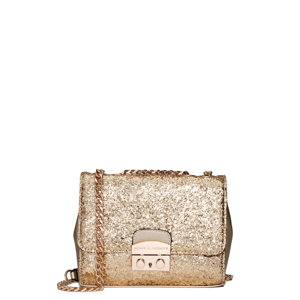 <i>the</i> BELLE OF THE BALL CROSSBODY <i>gold glitter</i>