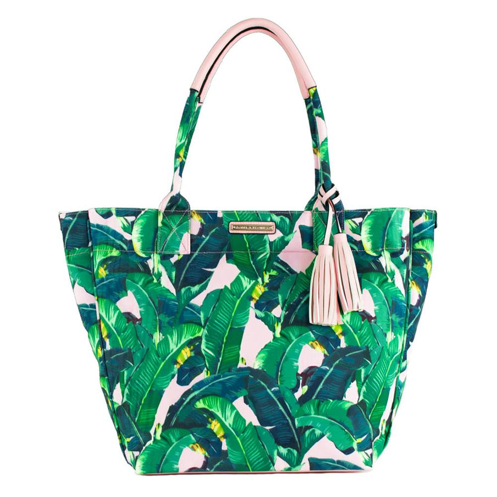 FUN IN THE SUN BEACH TOTE </br><i>cabana print</i>