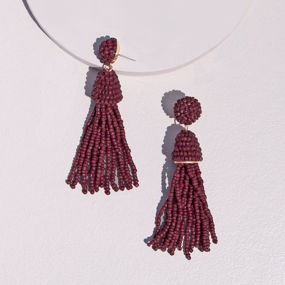 CHANDELIER EARRINGS  <i>berry</i>