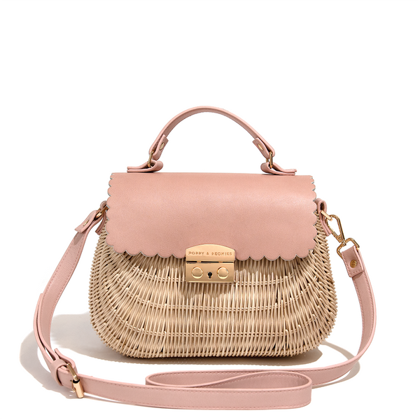 <i>the</i> CHARLOTTE SATCHEL <i>straw</i>