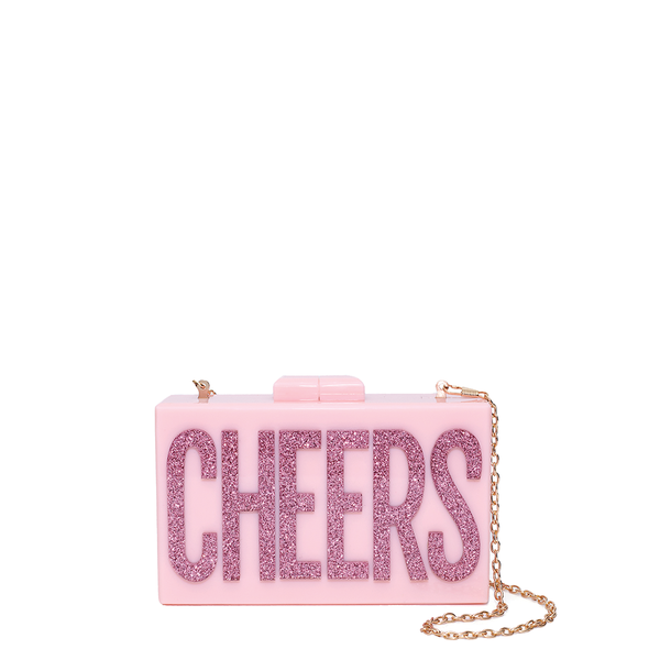 <i>the</i> CHEERS TO YOU CLUTCH <i>pink</i>