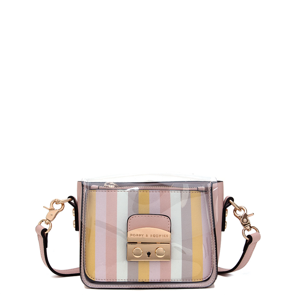 <i>the</i> CLEAR AS DAY CROSSBODY <i>spring stripe</i>