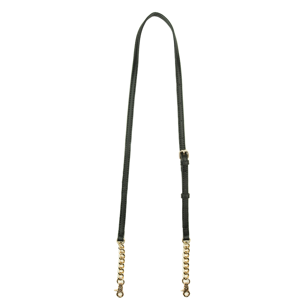 CROSSBODY STRAP <i>black with chain</i>