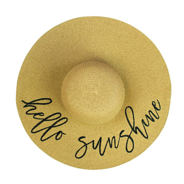 HELLO SUNSHINE <i>straw hat</i>