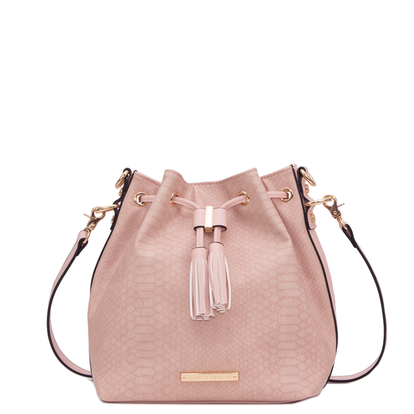 the DESERT BUCKET BAG nude croco