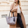 the DOUBLE DUTY TOTE black & leopard
