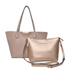 <i>the</i> DOUBLE DUTY TOTE <i>taupe & champagne gold</i>