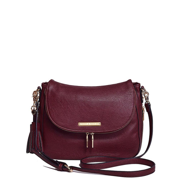 <i>the</i> DOWNTOWN CROSSBODY <i>berry</i>