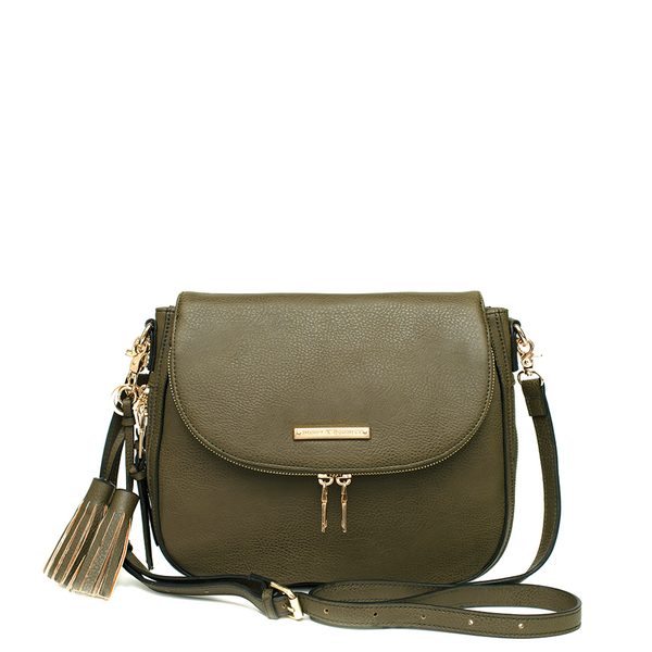 the DOWNTOWN CROSSBODY olive