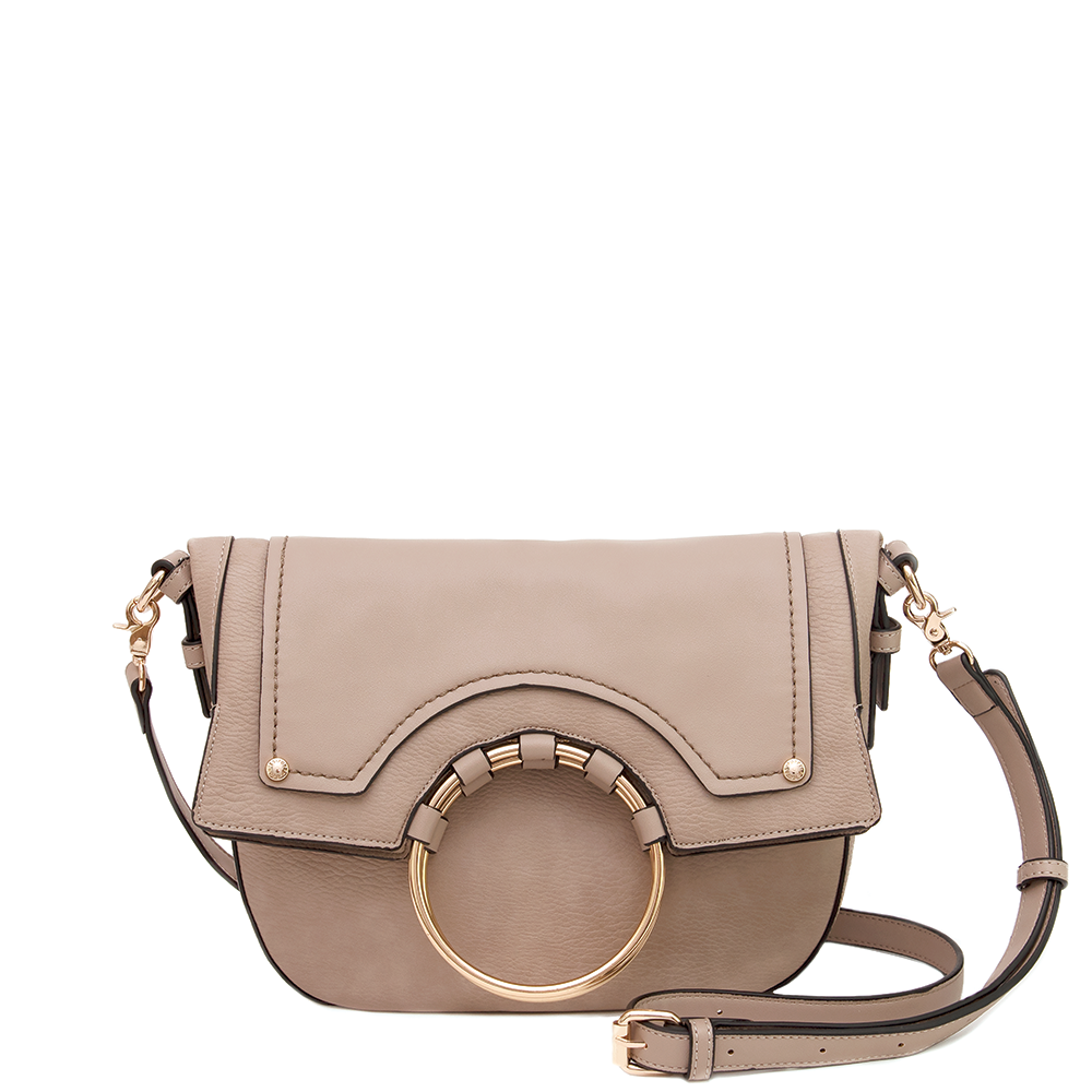 <i>the</i> FELICITY FOLDOVER <i>taupe</i>