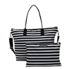 BON VOYAGE PACKABLE DUFFEL <i>black and white stripe</i>