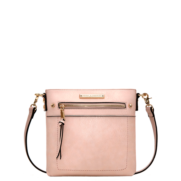 the GLOBETROTTER MINI CROSSBODY blush