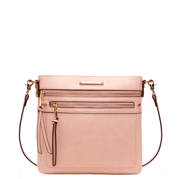 the GLOBETROTTER CROSSBODY blush