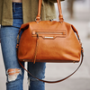 <i>the</i> GO ANYWHERE SATCHEL <i>cognac</i>