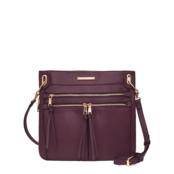<i>the</i> HARLOW CROSSBODY <i>wine</i>