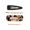 HARPER HAIR CLIPS <i>black & leopard</i>