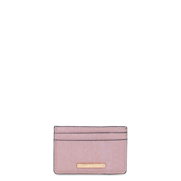 HOLD ME CARD HOLDER blush croco