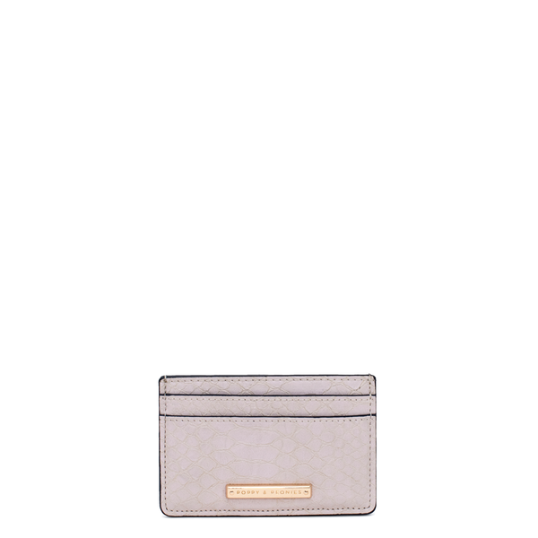 HOLD ME CARD HOLDER ivory croco