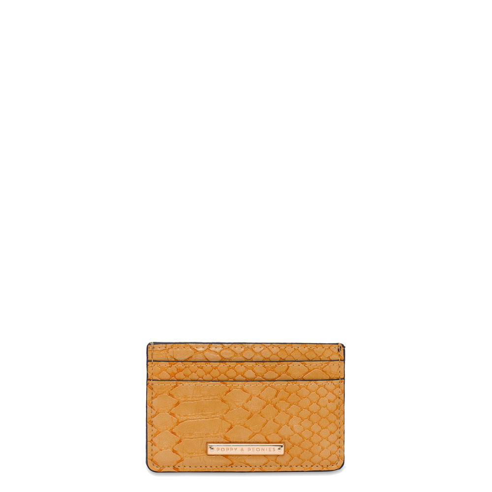 HOLD ME CARD HOLDER marigold croco