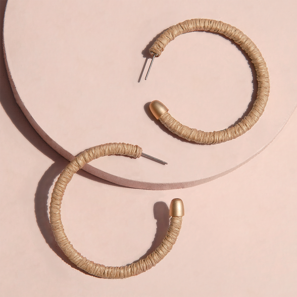 IN THE LOOP EARRINGS  <i>natural</i>