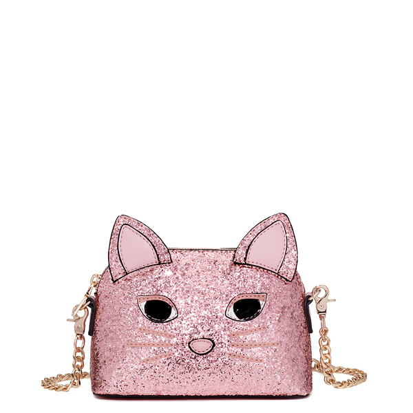 <i>the</i> KITTEN AROUND CROSSBODY <i>rosegold glitter</i>
