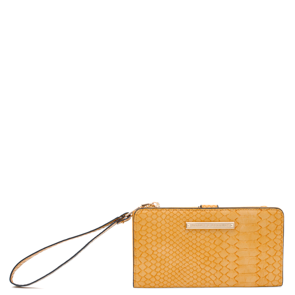 the LILLY WALLET marigold croco