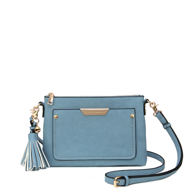 <i>the</i> MADELINE CROSSBODY <i>azure blue</i>
