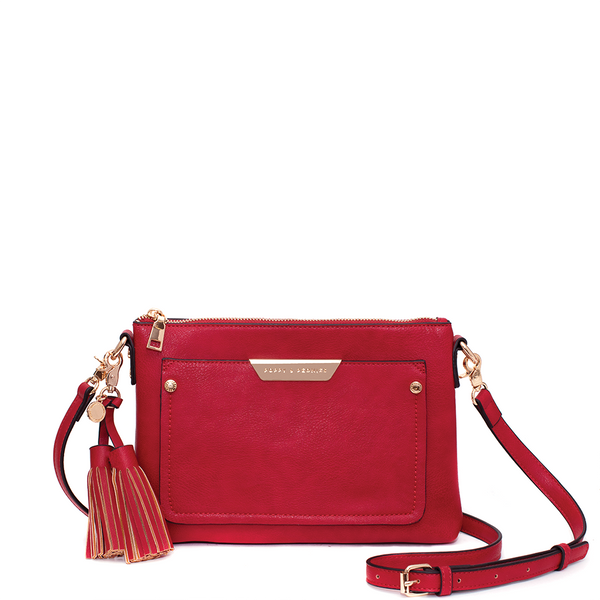the MADELINE CROSSBODY red