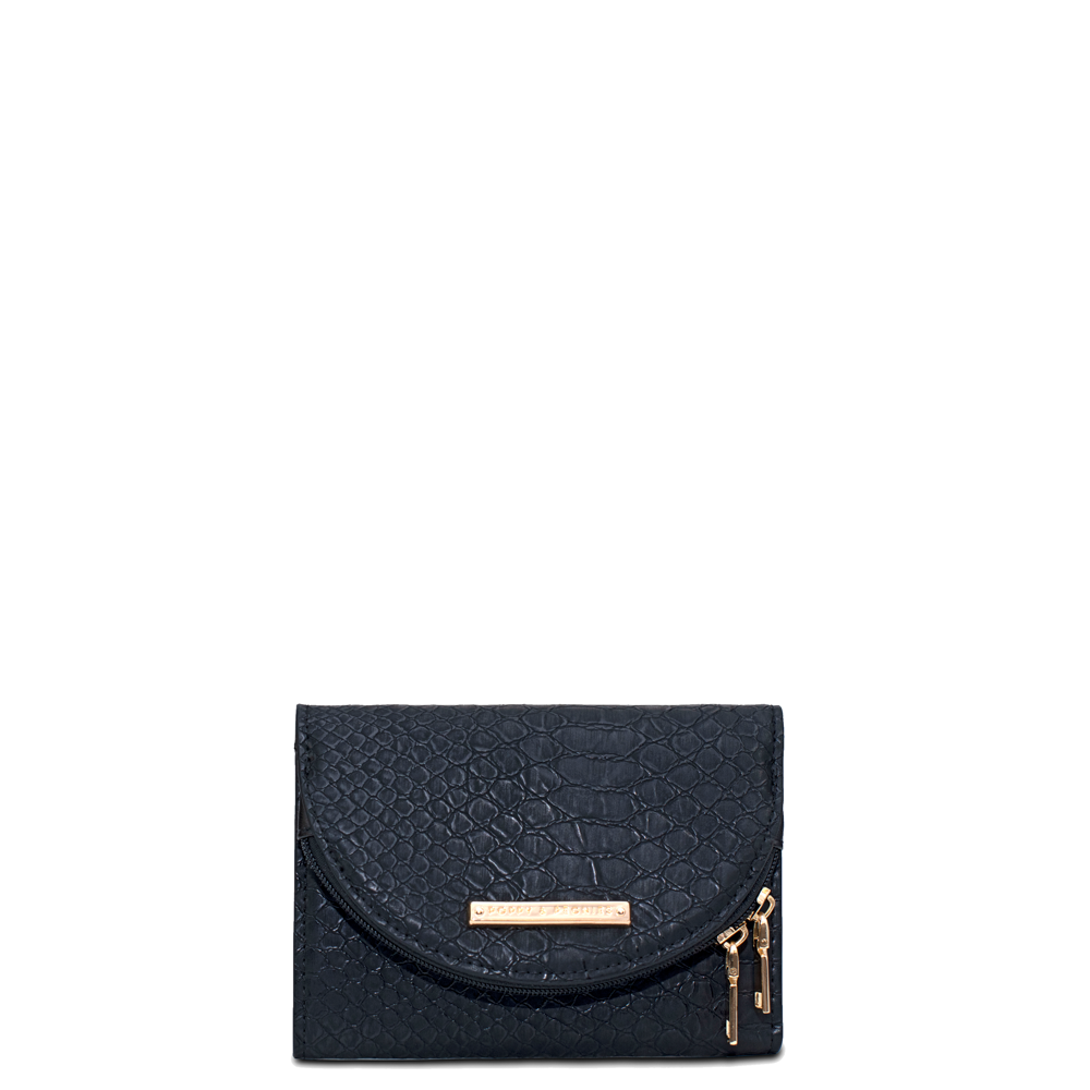 the MARGAUX WALLET black croco