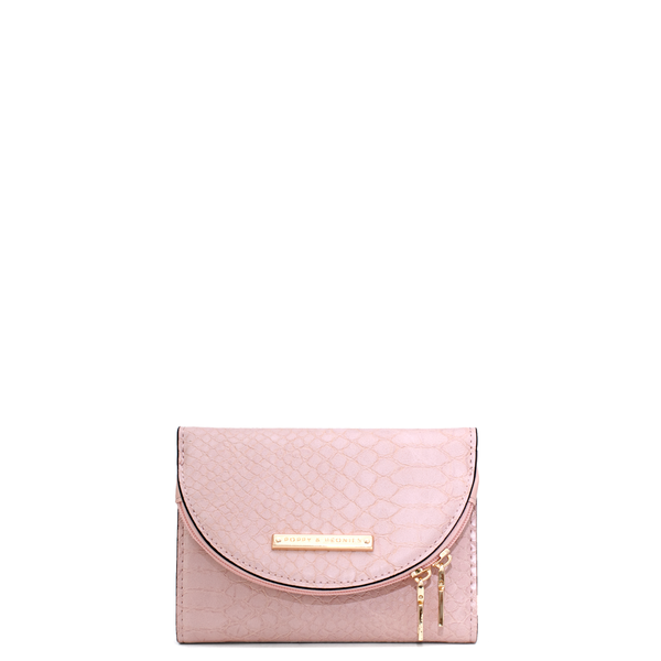 the MARGAUX WALLET blush croco