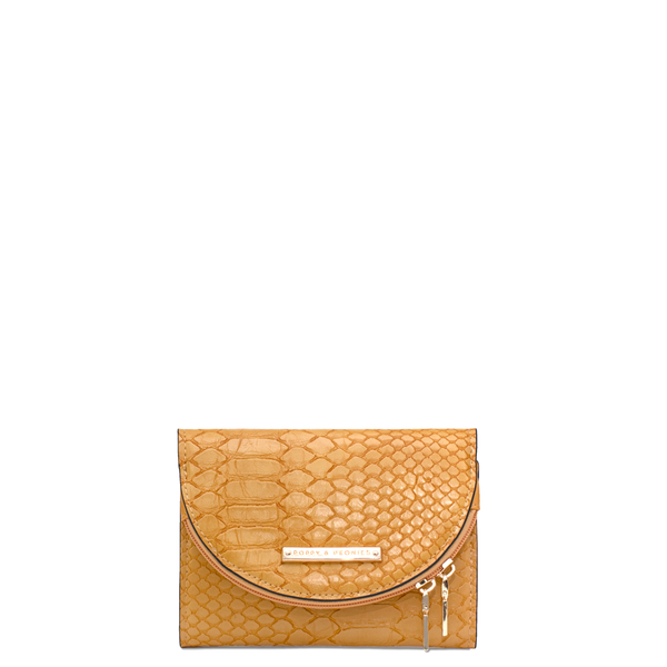 the MARGAUX WALLET marigold croco