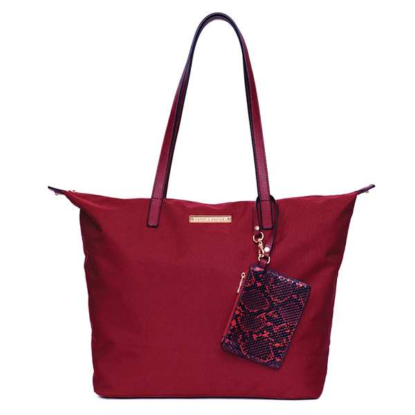 <i>the</i> ON-THE-GO TOTE <i>burgundy</i>