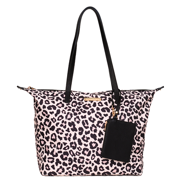 <i>the</i> ON-THE-GO TOTE <i>leopard</i>