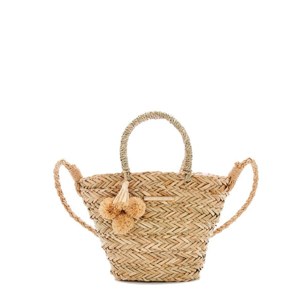 the SOLEIL BEACH BAG MINI straw
