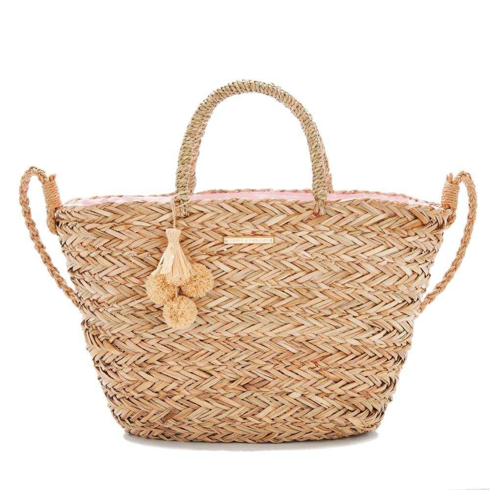 the SOLEIL BEACH BAG straw