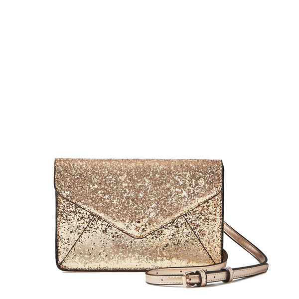<i>the</i> RSVP CLUTCH <i>champagne gold glitter</i>