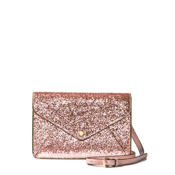 <i>the</i> RSVP CLUTCH <i>rosegold glitter</i>