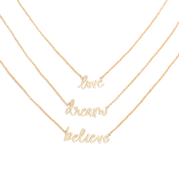 RISE UP NECKLACE SET  <i>gold</i>