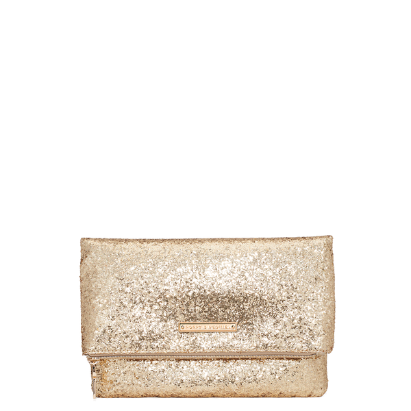 <i>the</i> RUBY CLUTCH <i>gold glitter</i>