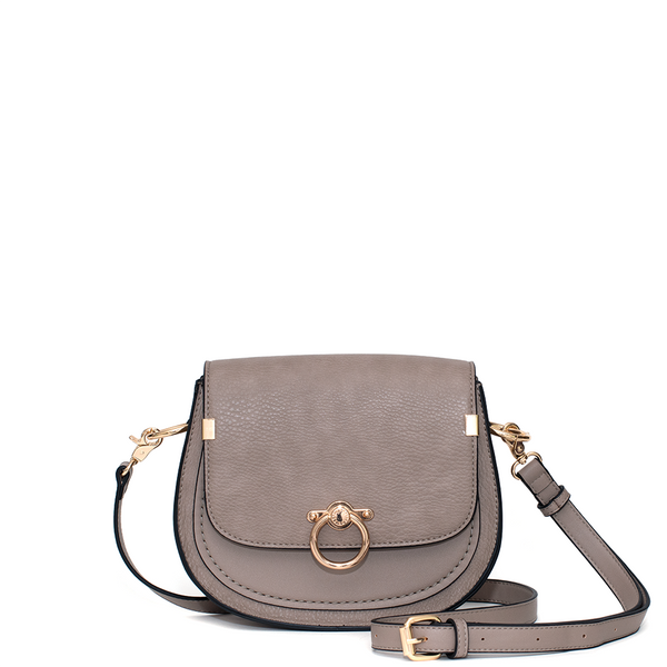 <i>the</i> SADDIE SADDLE BAG <i>taupe</i>