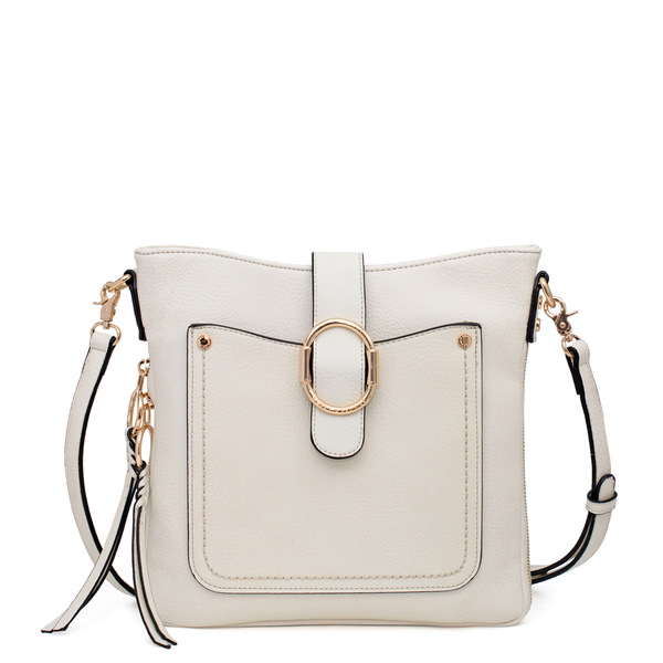 <i>the</i> SAVANNAH CROSSBODY <i>cream</i>
