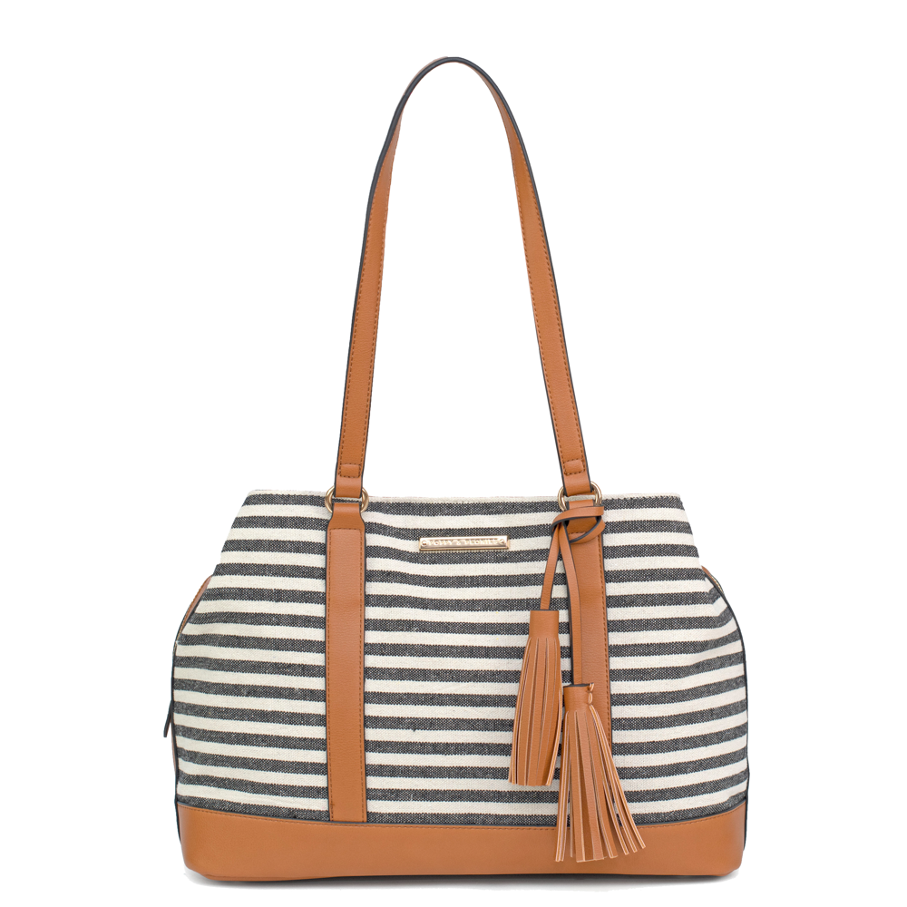 the SEDONA SATCHEL black stripe