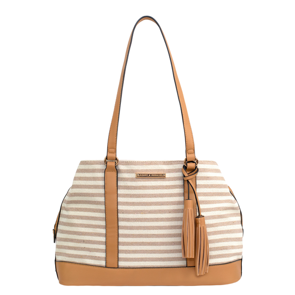 the SEDONA SATCHEL neutral stripe