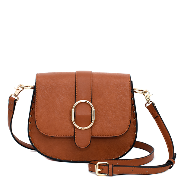 the SIENNA SADDLE BAG toffee